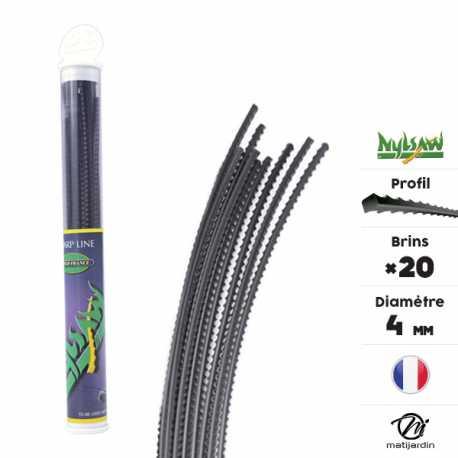 Fil d broussailleuse nylon nylsaw 20 brins de 4 mm crant - Fil de debroussailleuse ...