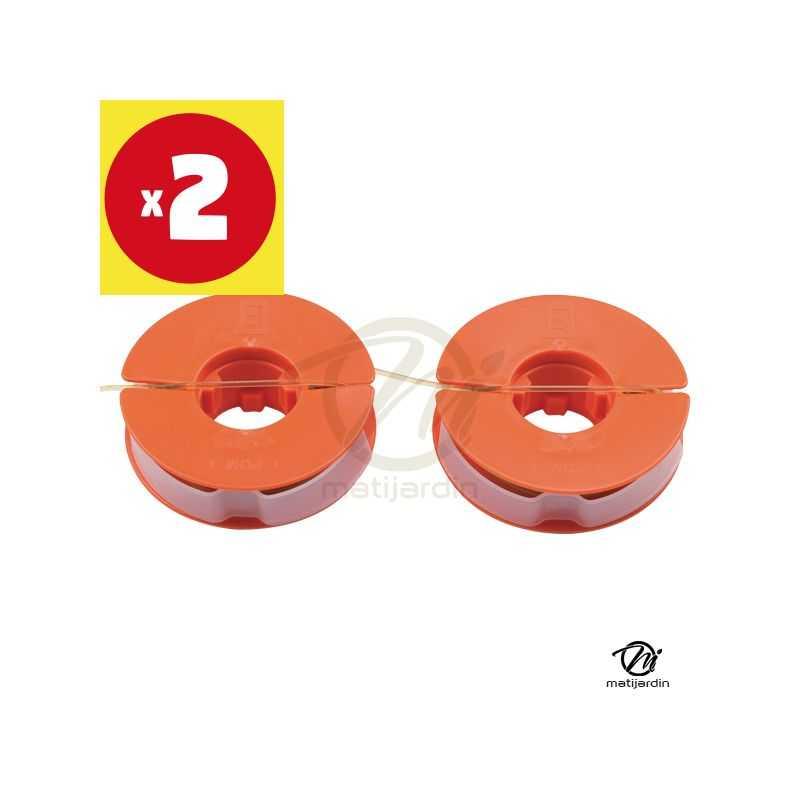 bobine de fil pour coupe bordure et rotofil x2 pour sabo 23350 et 34501. Black Bedroom Furniture Sets. Home Design Ideas