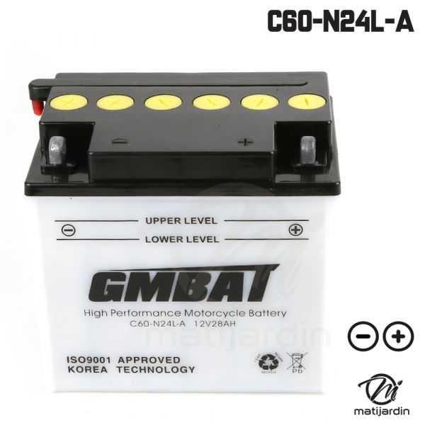 batterie tondeuse c60 n24l a batteries tracteurs tondeuses. Black Bedroom Furniture Sets. Home Design Ideas